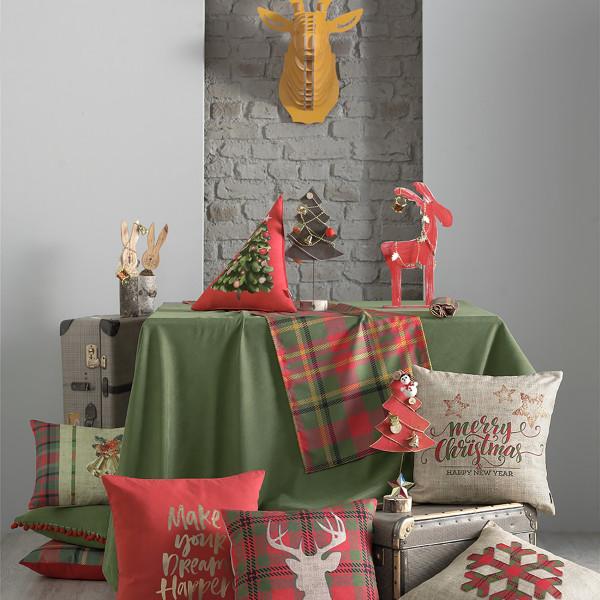 Χριστουγεννιάτικο Μαξιλάρι Apolena Triangle Tree 730-6899/2