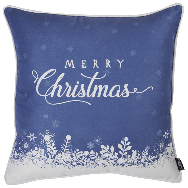 Χριστουγεννιάτικη Μαξιλαροθήκη (45x45) Apolena Xmas Blue 706-5618/1