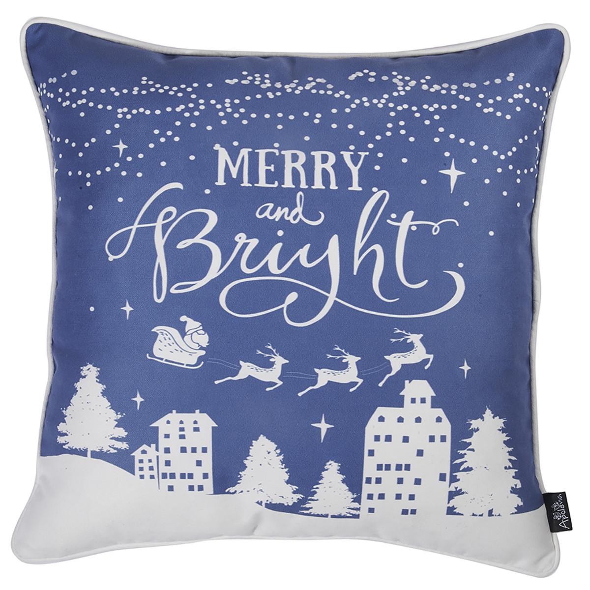 Χριστουγεννιάτικη Μαξιλαροθήκη (45×45) Apolena Xmas Blue 706-5615/1