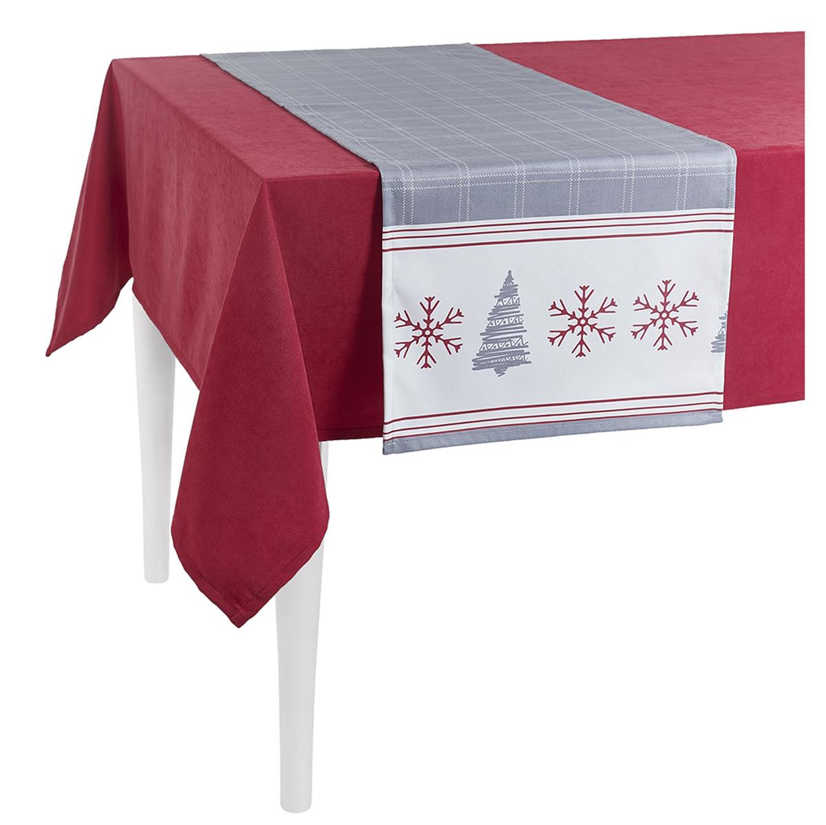 Χριστουγεννιάτικη Τραβέρσα Apolena Tree Grey 715-5595/1 home   χριστουγεννιάτικα   χριστουγεννιάτικες τραβέρσες