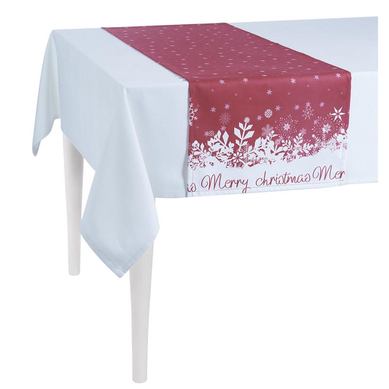 Χριστουγεννιάτικη Τραβέρσα Apolena Snow Red 715-5610/2