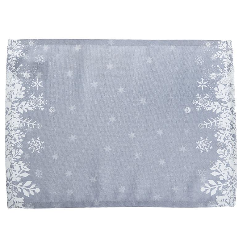 Χριστουγεννιάτικα Σουπλά (Σετ 2τμχ) Apolena Snow Grey 790-5611/3