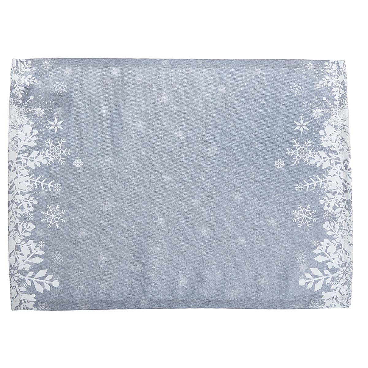 Χριστουγεννιάτικα Σουπλά (Σετ 2τμχ) Apolena Snow Grey 790-5611/3 home   χριστουγεννιάτικα   χριστουγεννιάτικα σουπλά