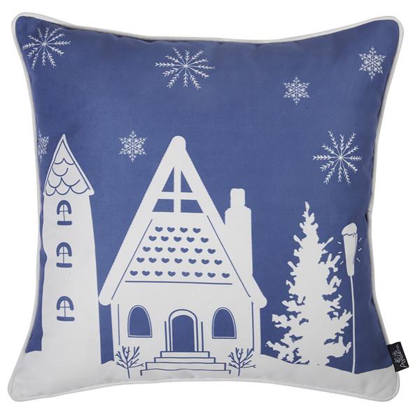 Χριστουγεννιάτικη Μαξιλαροθήκη (45x45) Apolena Xmas Blue 706-5616/1