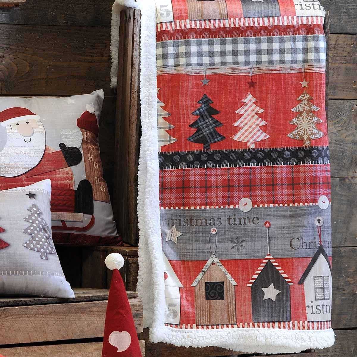 Χριστουγεννιάτικη Κουβέρτα Καναπέ Vixen Rouge P20270001