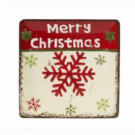 Χριστουγεννιάτικη Πιατέλα Marva Snowflake 652113