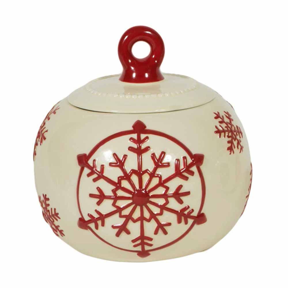Χριστουγεννιάτικο Βάζο Marva Snowflake 652120