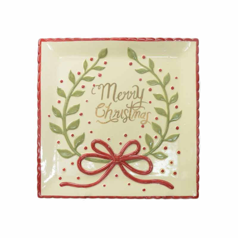 Χριστουγεννιάτικη Πιατέλα Marva Bow Xmas 652175 home   χριστουγεννιάτικα   χριστουγεννιάτικα διακοσμητικά