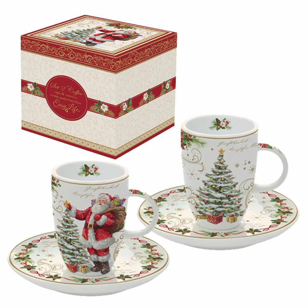 Χριστουγεννιάτικα Φλυτζάνια Καφέ (Σετ 2τμχ) Marva MG 1460ΜΑGΙ