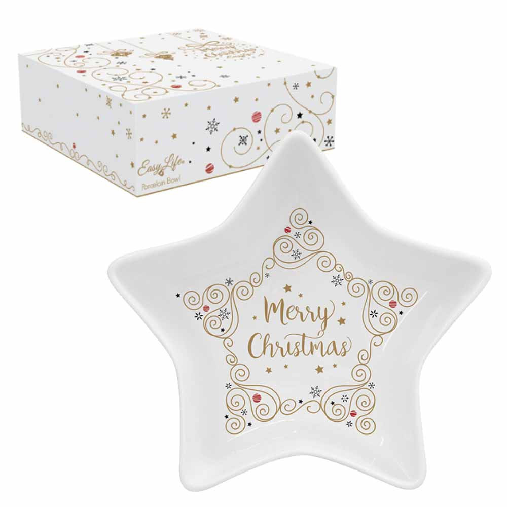 Χριστουγεννιάτικο Μπωλ Marva Star 1323ΜCΗS