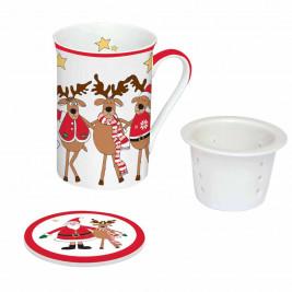 Χριστουγεννιάτικη Κούπα + Σουρωτήρι Marva Friends 1040SΑFR