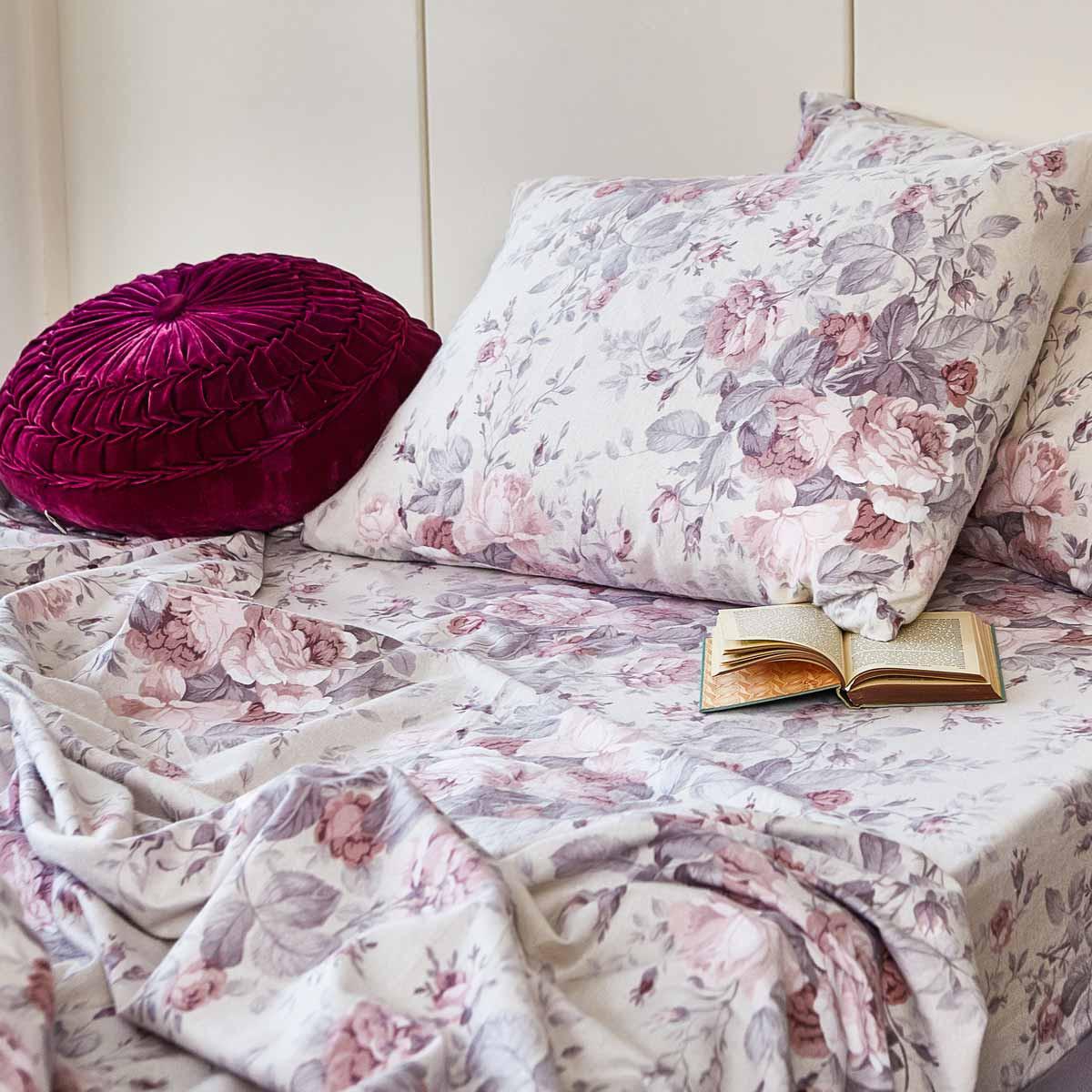 Φανελένια Σεντόνια King Size (Σετ) Melinen Peonia Rose