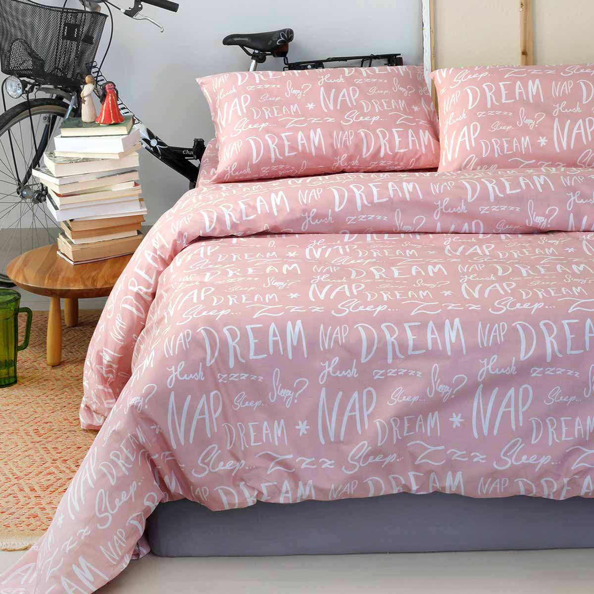 Σεντόνια Υπέρδιπλα (Σετ 225×260) Melinen Ultra Dreamer Pink