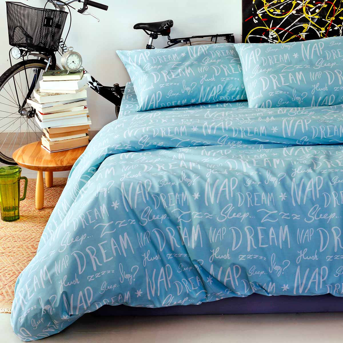 Σεντόνια Διπλά (Σετ) Melinen Ultra Dreamer Crystal Blue