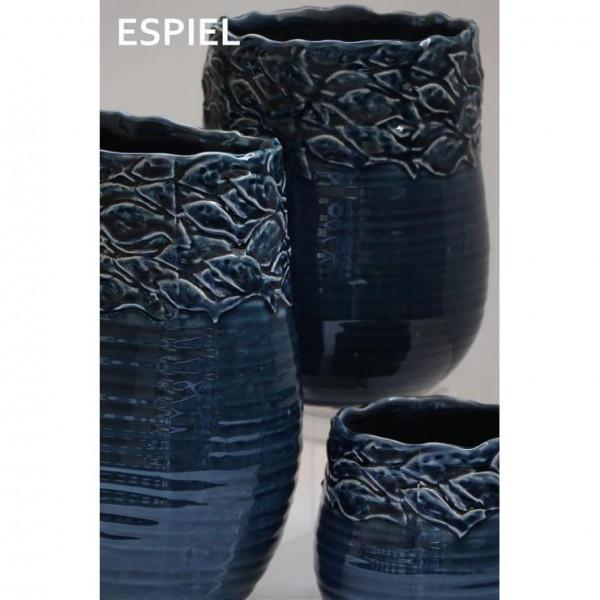 Διακοσμητικό Βάζο Espiel Fishes Blue PIM136K6