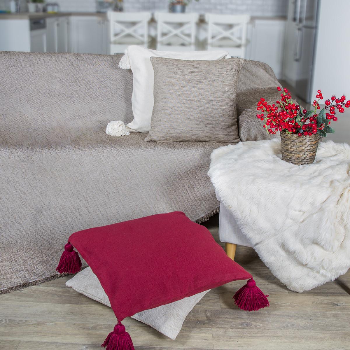 Ριχτάρι Πολυθρόνας (180x180) Loom To Room Miski Beige