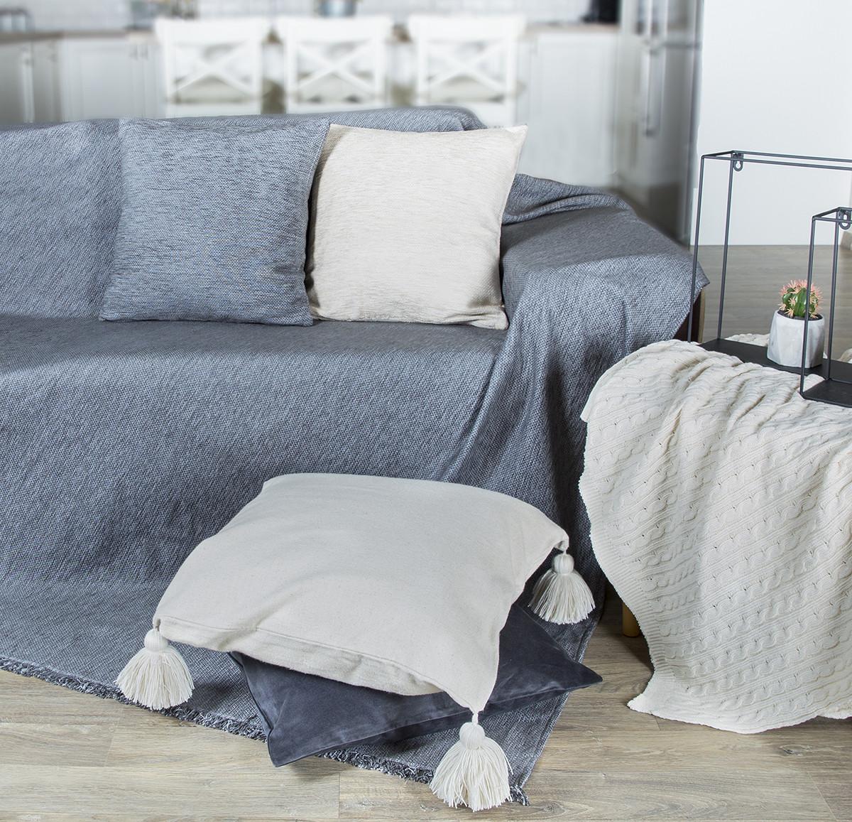 Ριχτάρι Πολυθρόνας (180×180) Loom To Room Miski Grey