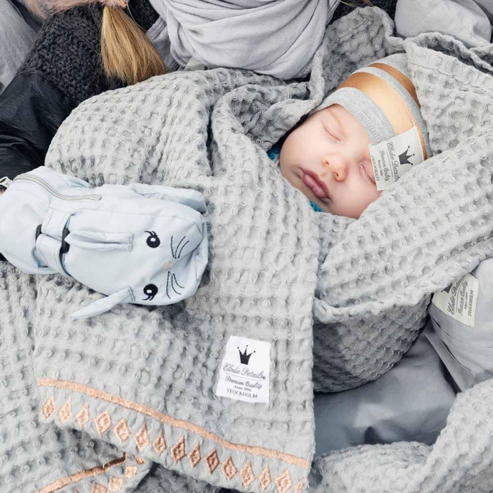 Κουβέρτα Πικέ Αγκαλιάς Elodie Details Gilded Grey BR71187 home   βρεφικά   κουβέρτες βρεφικές   κουβέρτες καλοκαιρινές