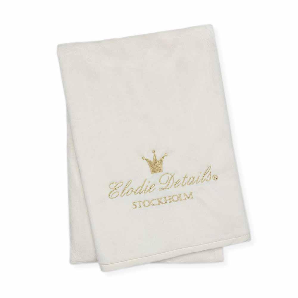 Κουβέρτα Fleece Αγκαλιάς Elodie Details Pearl Velvet Vanilla Whi