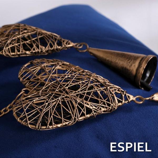 Χριστουγεννιάτικο Στολίδι Espiel Καρδιά Χρυσό KAV114K6