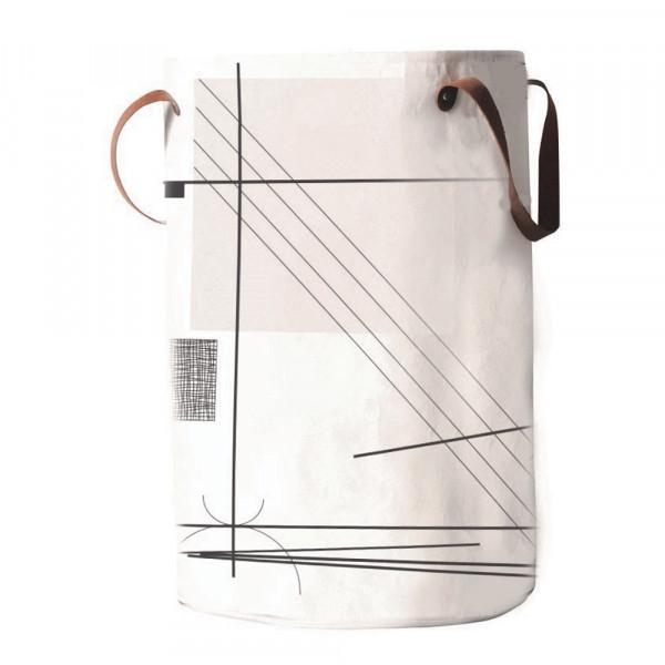 Καλάθι Απλύτων Estia Abstract Art White 02-3289