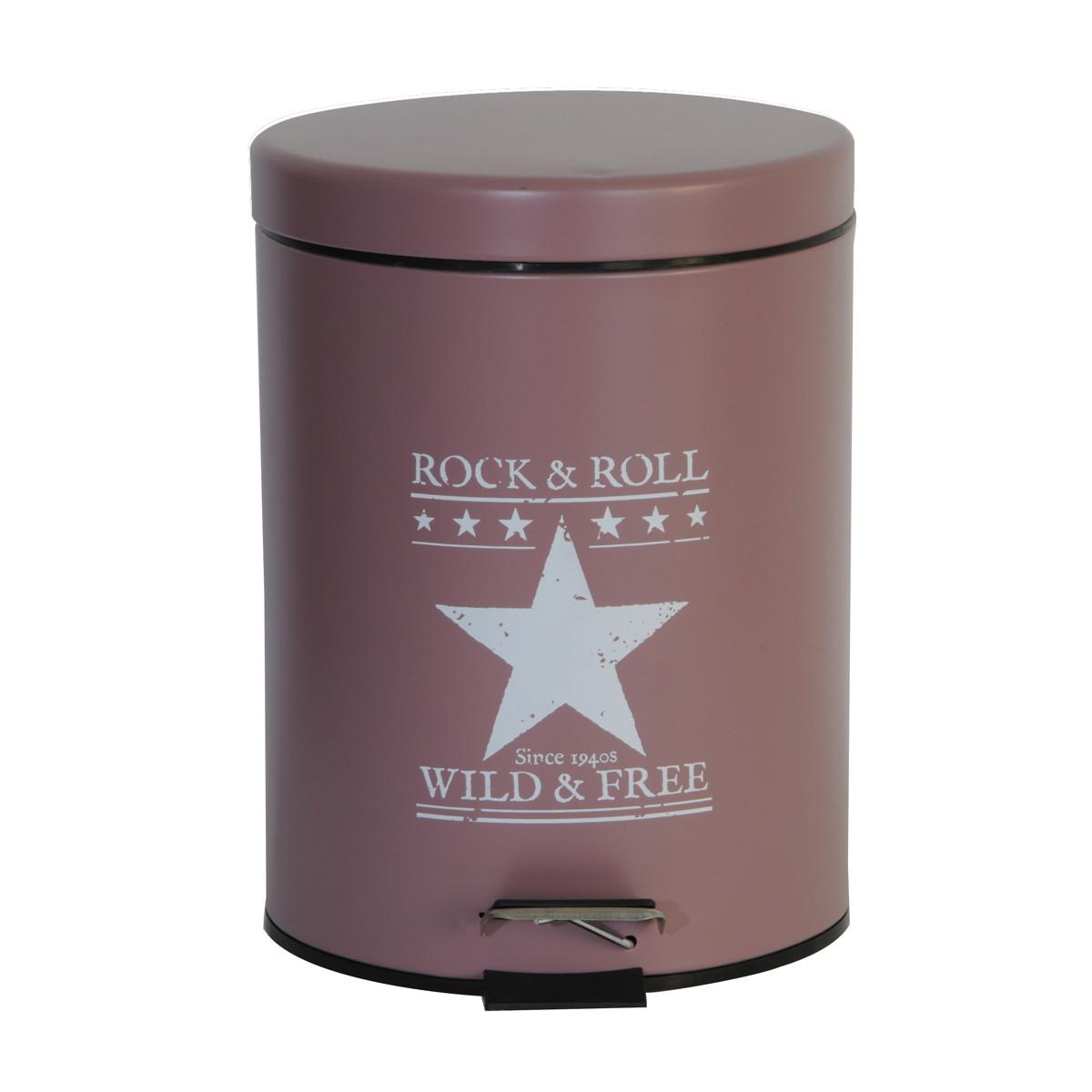 Κάδος Απορριμάτων (20x28) εstia 5Lit Rock & Roll Rose 02-3845 home   μπάνιο   κάδοι απορριμμάτων