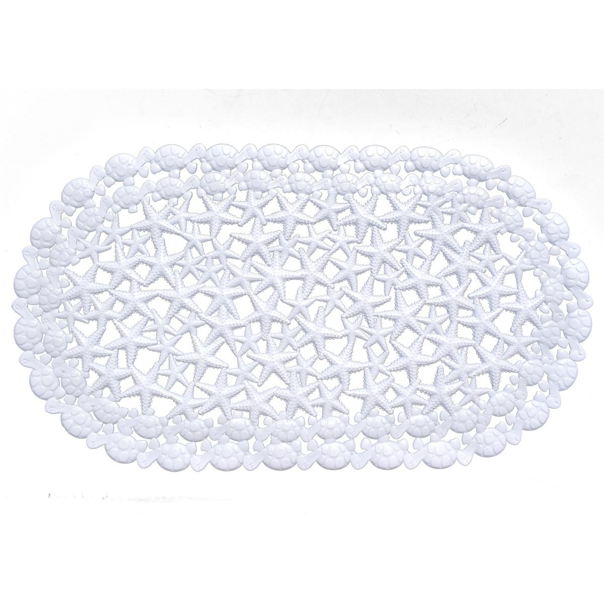 Αντιολισθητικό Πατάκι Μπανιέρας Estia Starfish White 02-4545