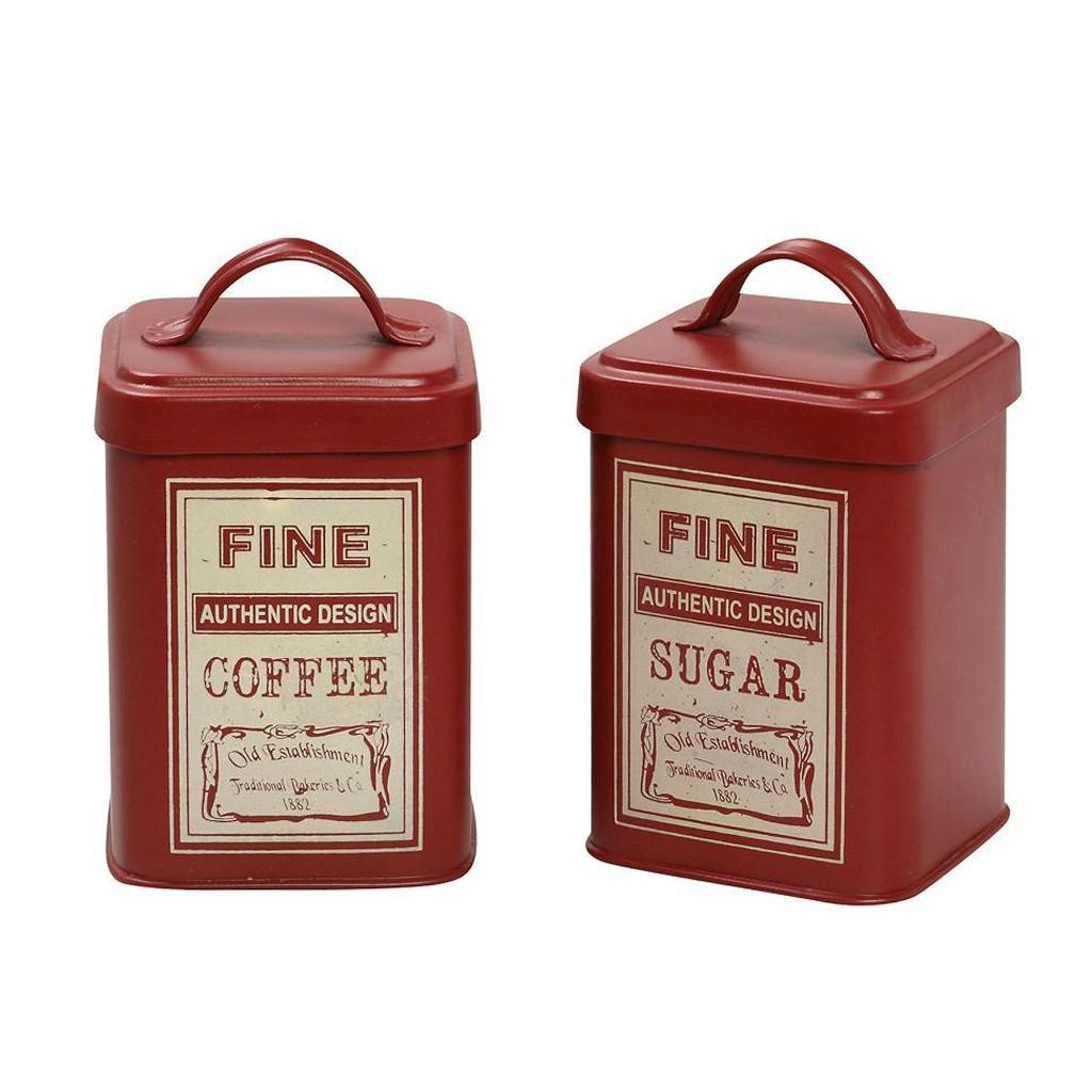 Δοχείο Ζάχαρης + Καφέ (Σετ) Espiel Fine Red DEB240