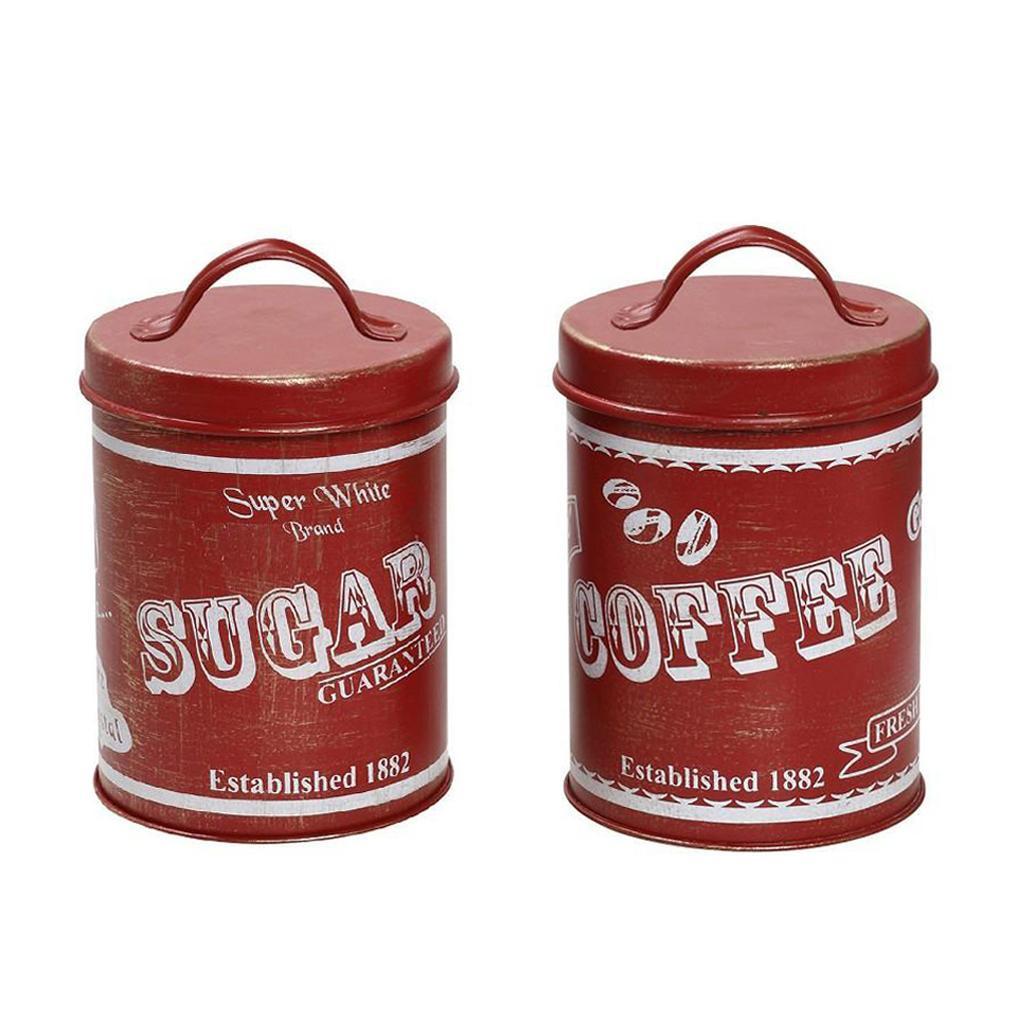 Δοχείο Ζάχαρης + Καφέ (Σετ) Espiel 1882 Red DEB225