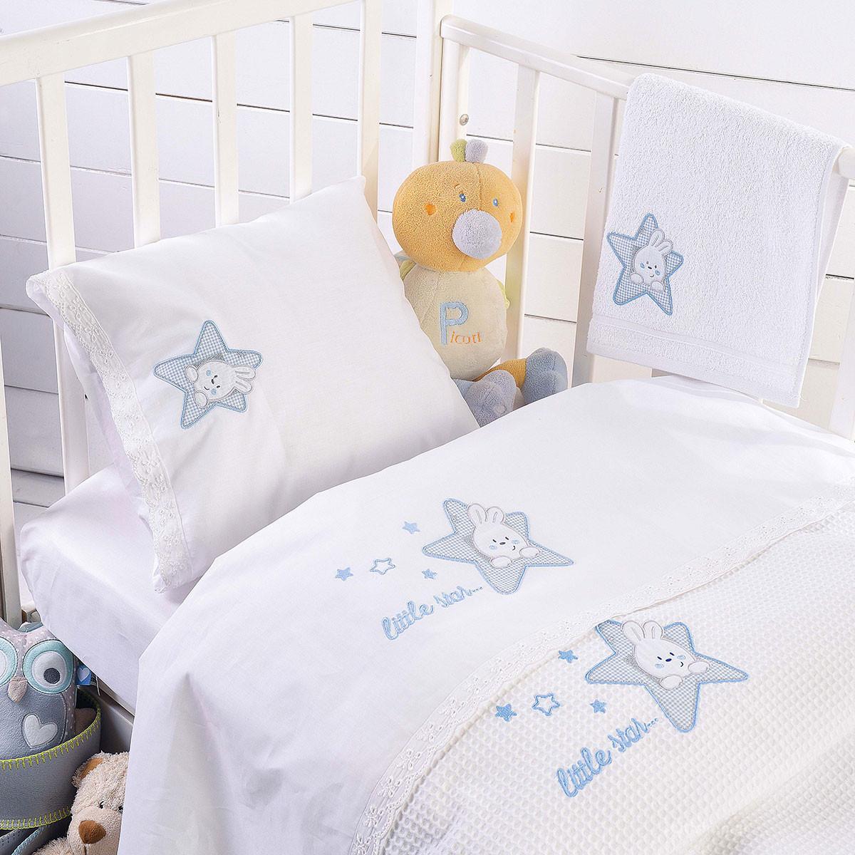 Κουβέρτα Πικέ Κούνιας Rythmos Astro Ciel home   βρεφικά   κουβέρτες βρεφικές   κουβέρτες καλοκαιρινές