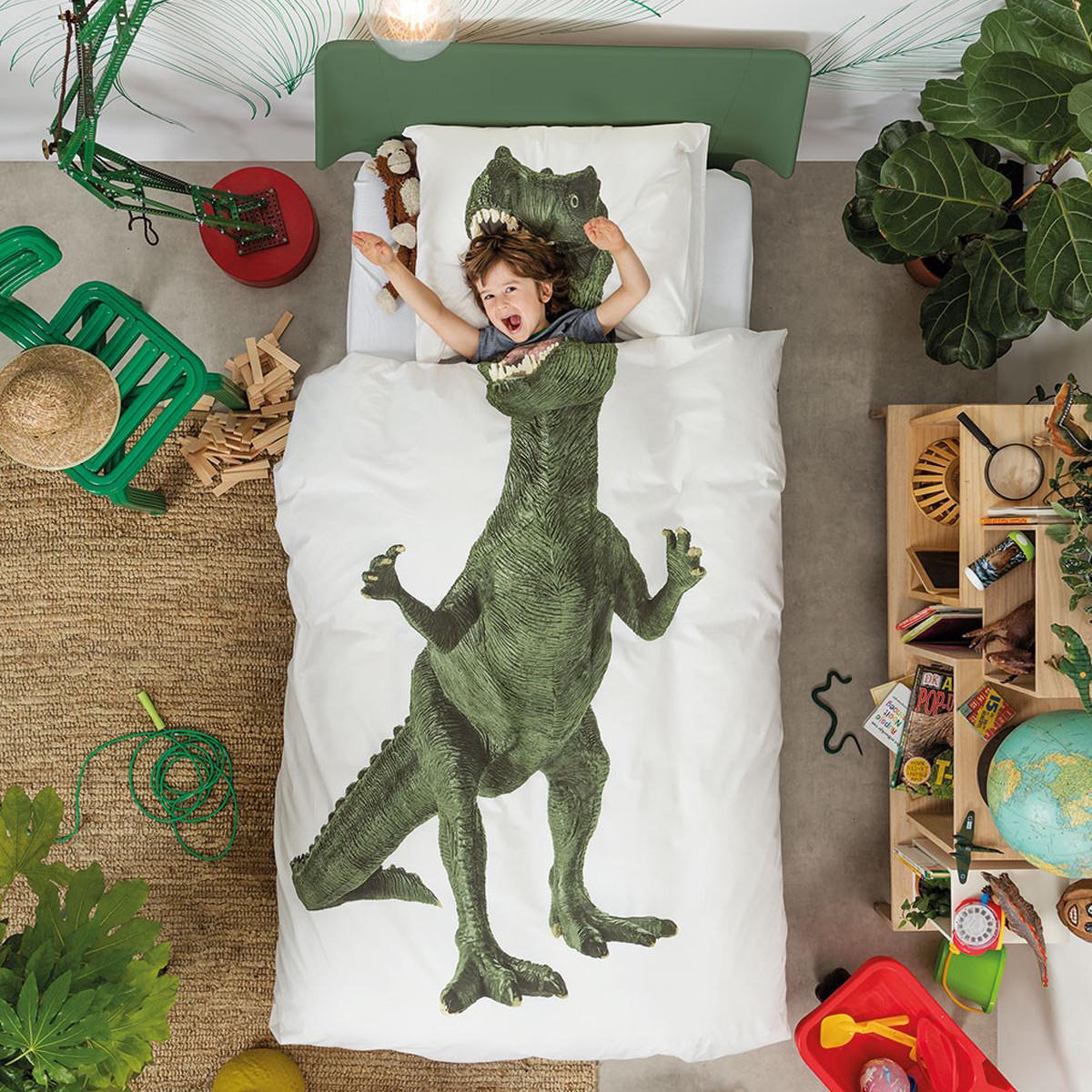 Παπλωματοθήκη Μονή (Σετ) Snurk Dinosaur
