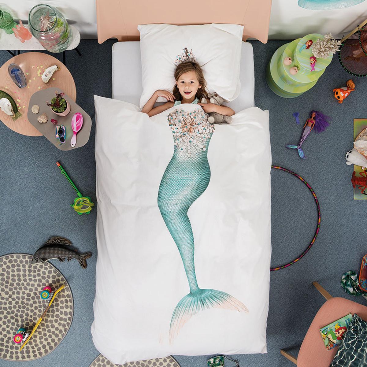 Παπλωματοθήκη Μονή (Σετ) Snurk Mermaid