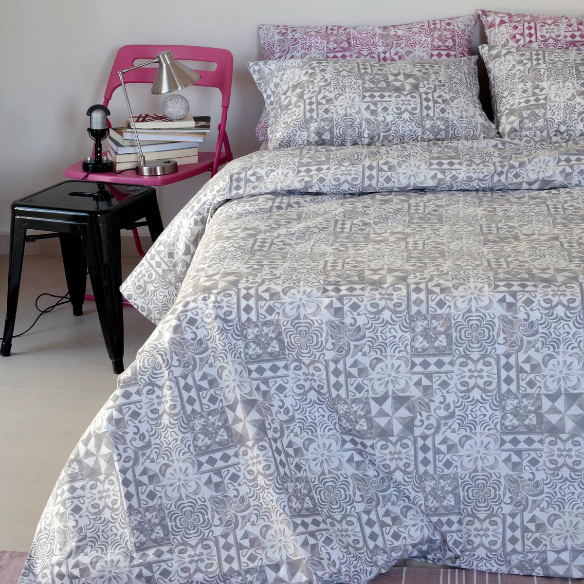 Σεντόνια Διπλά (Σετ) Melinen Ultra Batik Grey home   κρεβατοκάμαρα   σεντόνια   σεντόνια ημίδιπλα   διπλά