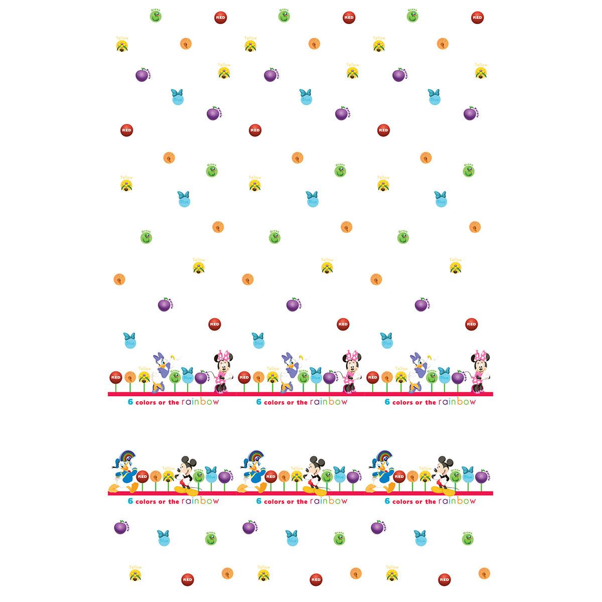 Παιδική Κουρτίνα (140×290) Με Τρέσα Disney ClubHouse CH003 White