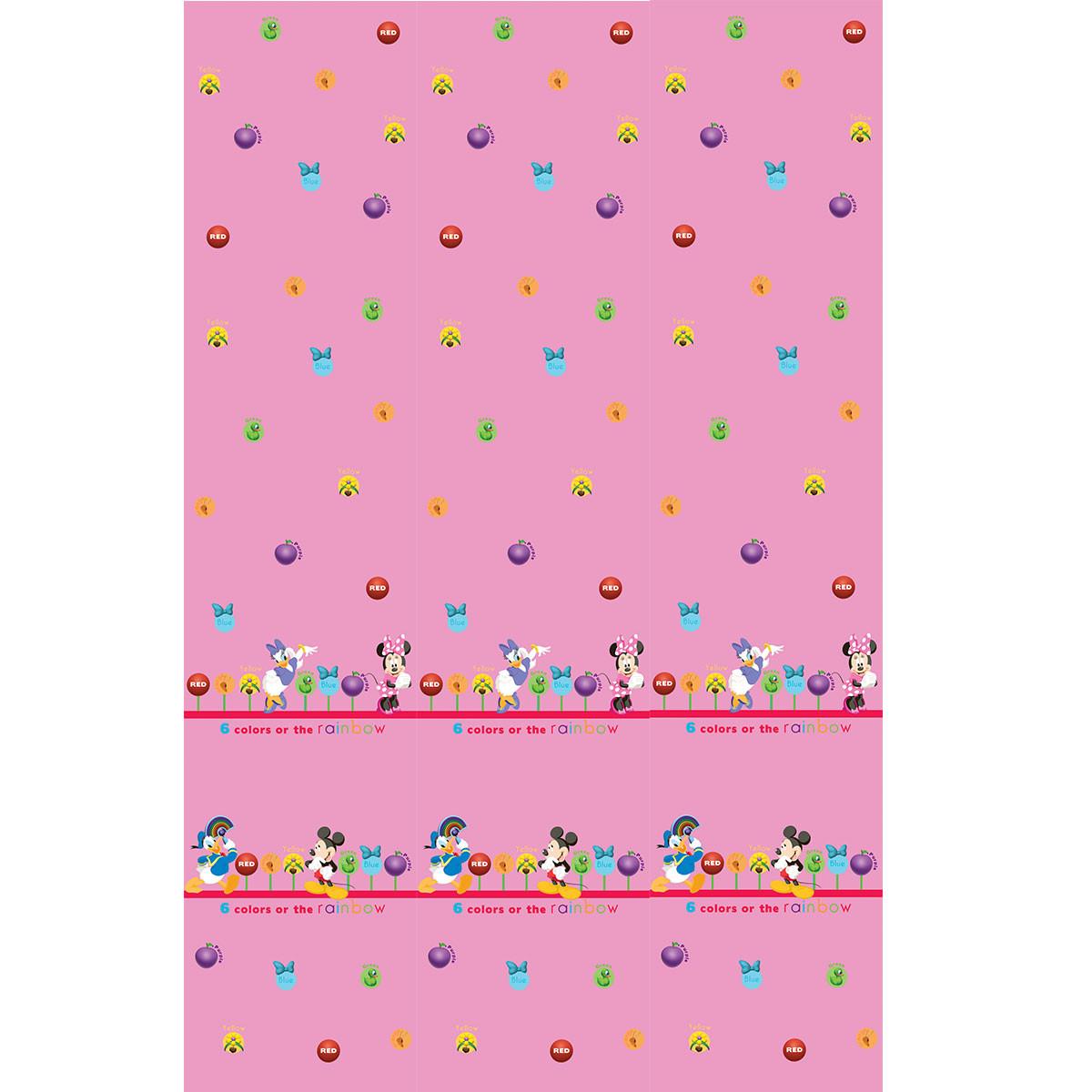 Παιδική Κουρτίνα (140×290) Με Τρέσα Disney ClubHouse CH003 Pink