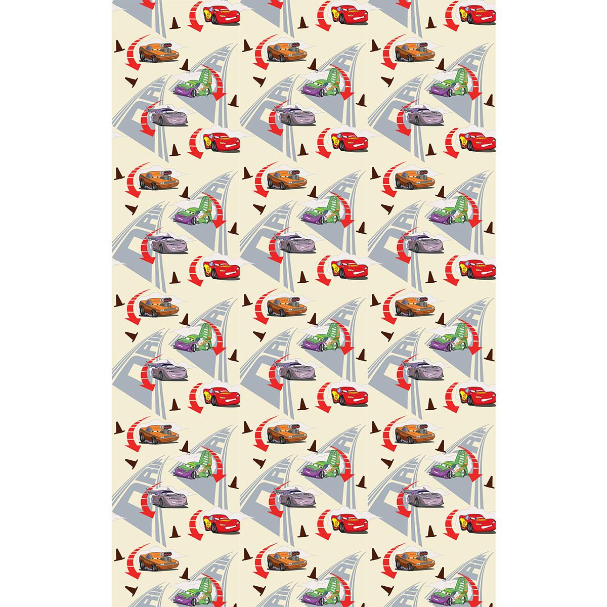 Παιδική Κουρτίνα (140×290) Με Τρέσα Disney Cars CA185 Beige
