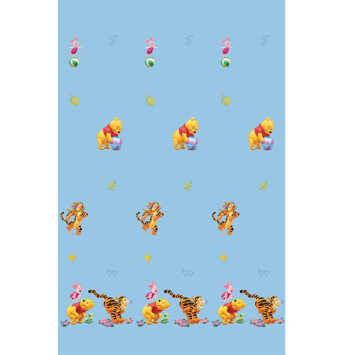 Παιδική Κουρτίνα (140×290) Με Τρέσα Disney Winnie 9102 Blue