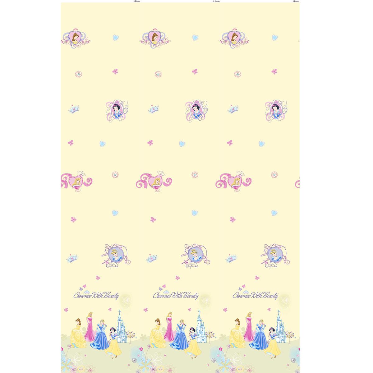 Παιδική Κουρτίνα (140×290) Με Τρέσα Disney Princess 10143 Beige