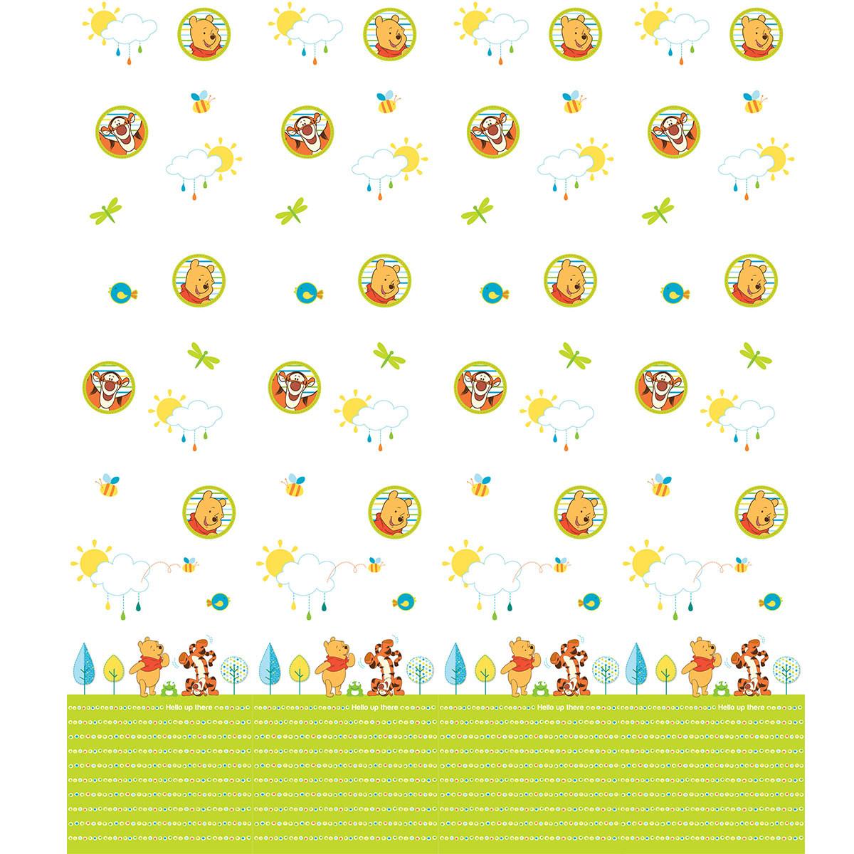 Παιδική Κουρτίνα (140×290) Με Τρέσα Disney Winnie WP008 White