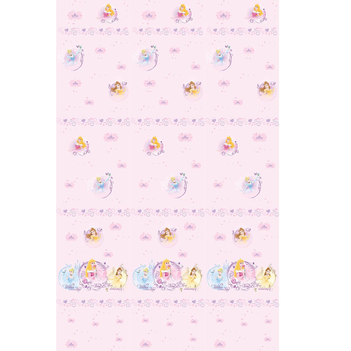 Παιδική Κουρτίνα (140×290) Με Τρέσα Disney Princess PR013 Pink