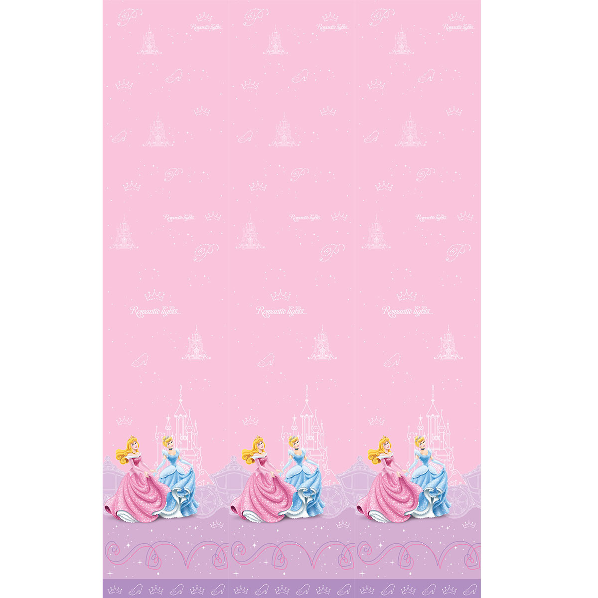 Παιδική Κουρτίνα (140×290) Με Τρέσα Disney Princess PR011 Pink
