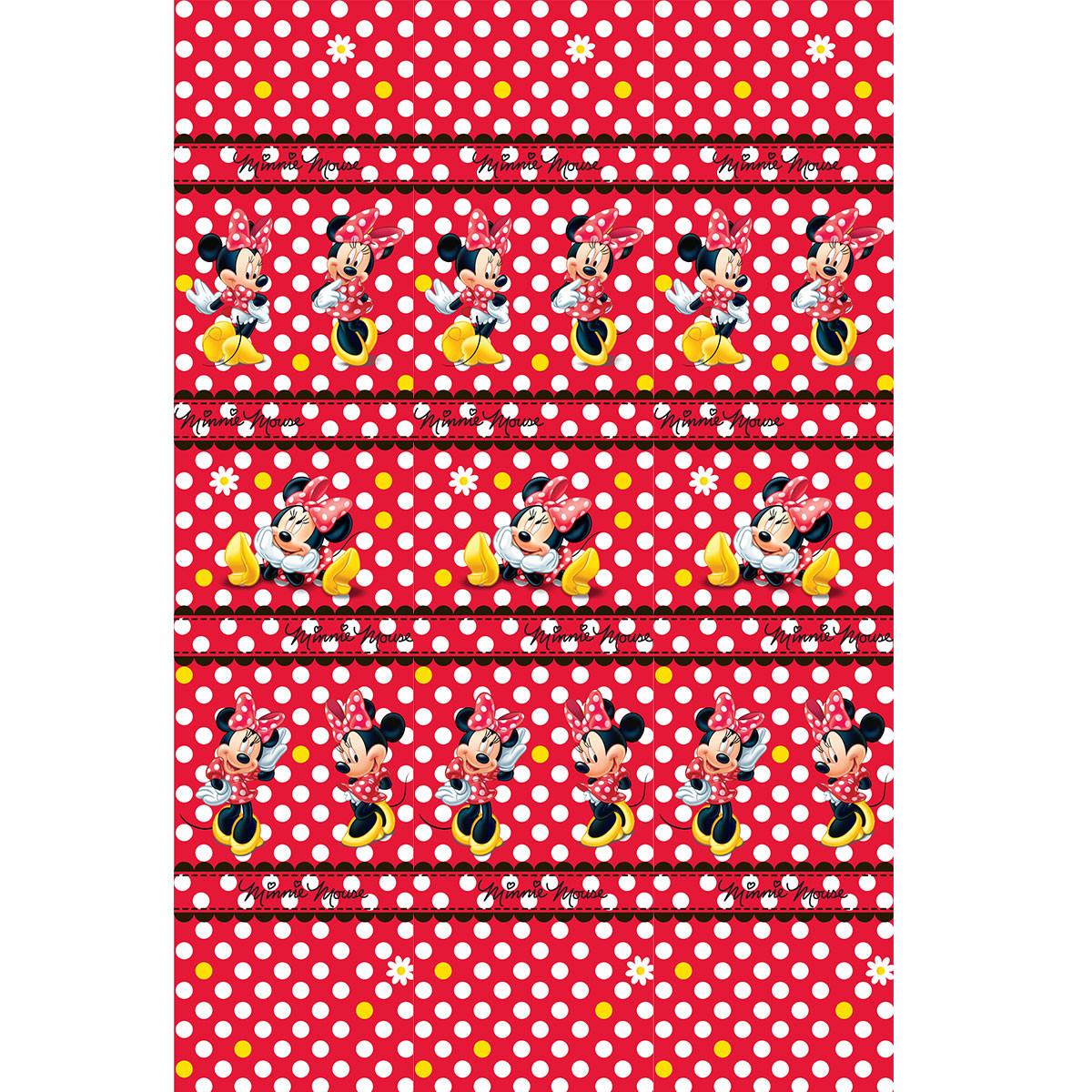 Παιδική Κουρτίνα (140×290) Με Τρέσα Disney Minnie MM002 Red