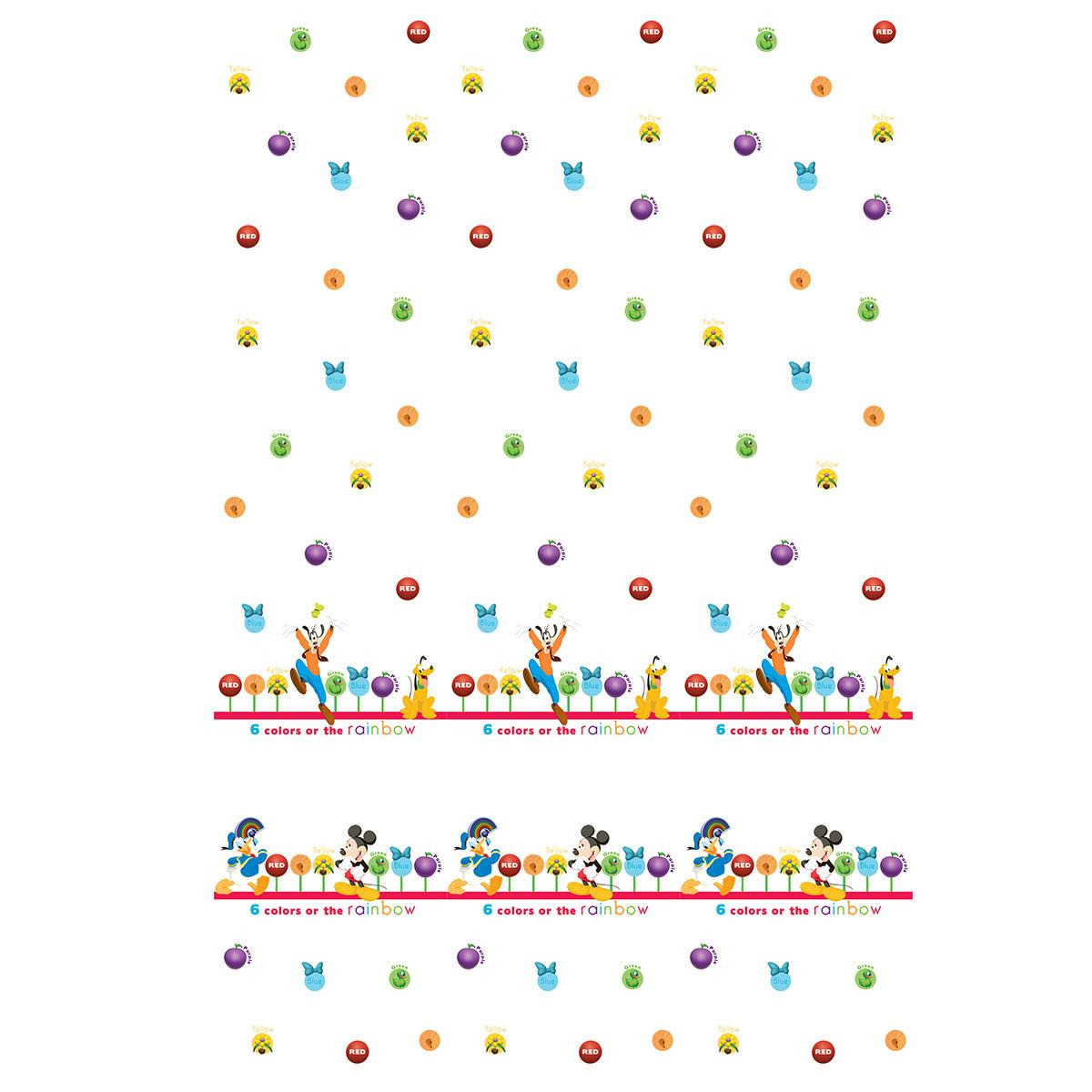 Παιδική Κουρτίνα (140×290) Με Τρέσα Disney ClubHouse CH002 White