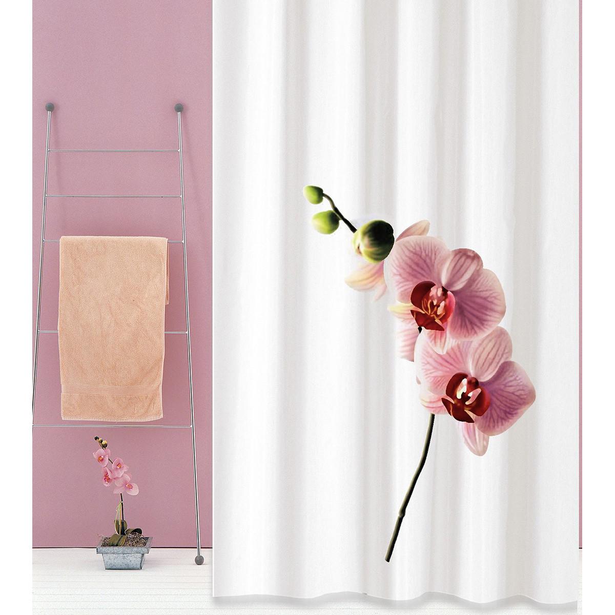 Κουρτίνα Μπάνιου (180×180) San Lorentzo Orchid