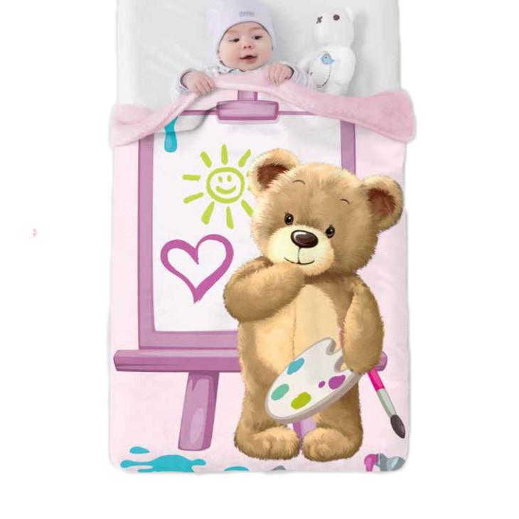 Κουβέρτα Βελουτέ Κούνιας Manterol Baby Vip 523 C04