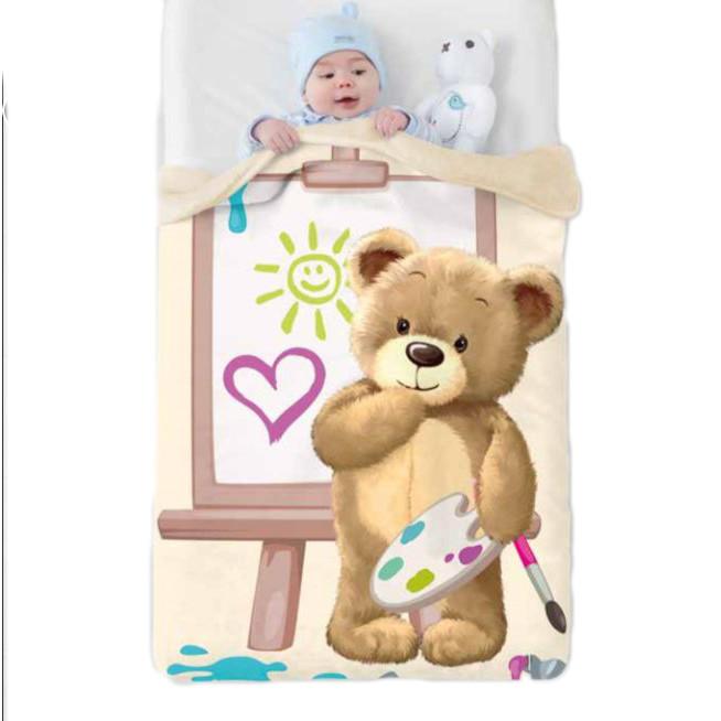 Κουβέρτα Βελουτέ Κούνιας Manterol Baby Vip 523 C07