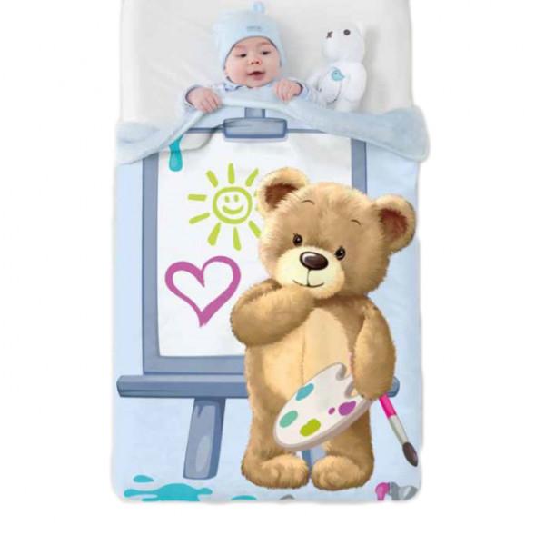 Κουβέρτα Βελουτέ Κούνιας Manterol Baby Vip 523 C08