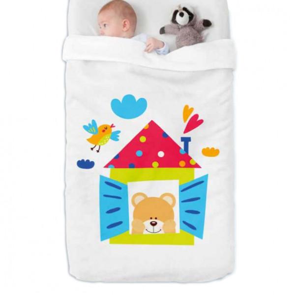Κουβέρτα Βελουτέ Κούνιας Manterol Baby Happy 712 C15