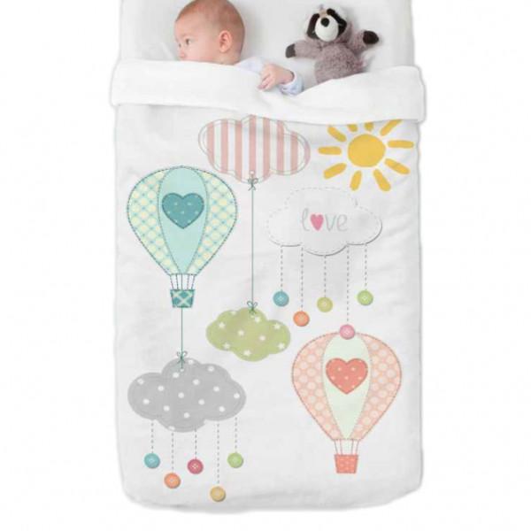Κουβέρτα Βελουτέ Κούνιας Manterol Baby Happy 713 C15