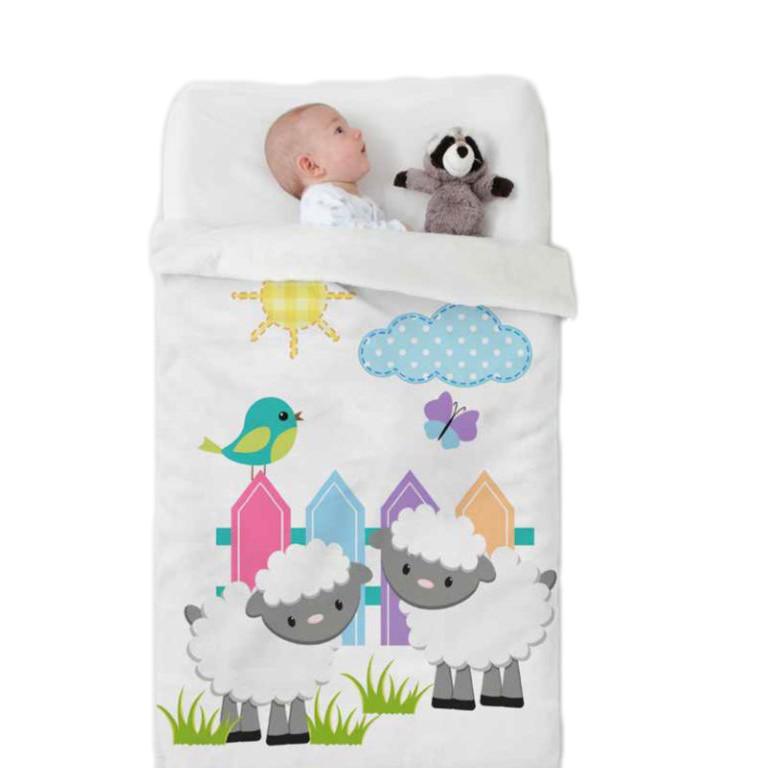 Κουβέρτα Βελουτέ Κούνιας Manterol Baby Happy 714 C15